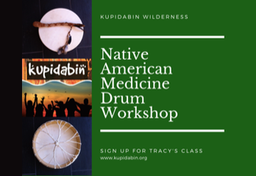Native American Medicine Drum Making Workshops with Tracy in 2019